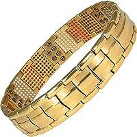 MPS Europe Leprechaun Taming Gold PL Titan 5 Elements magnetische Armband für Männer mit Klappschließe + Frei... preisvergleich bei billige-tabletten.eu