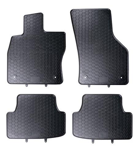 DAPA Prime Gummimatten Gummi Fußmatten Komplettset Schwarz perfekt passend mit Rand 1103526
