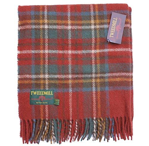 Wolle Knee Warmers (tweedmill Antik Royal Stewart Tartan Schurwolle Knie Teppich Überwurf-British Made)
