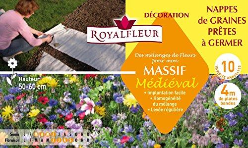 Royalfleur PFS308338 Graines de des Mélange de Fleurs mon Massif Médiéval-Nappe