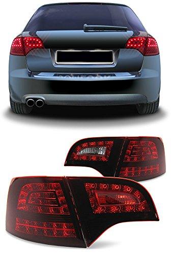 Carparts-Online 22522 LED Rückleuchten + LED Blinker dunkel rot