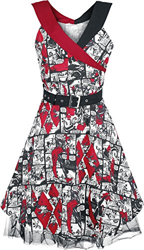 DC Comics Kleid HARLEY QUINN SAIN DRESS, Schwarz-Rot, XS