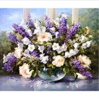 Frameless Picture Lavender DIY Painting Kits Drawing Paint On Canvas Wall Art for Home Decor Artwork 40X50Cm