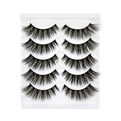 Bepholan Faux Eyelash 3D Mink Eyelashes Strip False Eyelashes Beauty Pack Reusable Invisible Band Soft Long and Thick Fashion Hand Made for Women's Make Up
