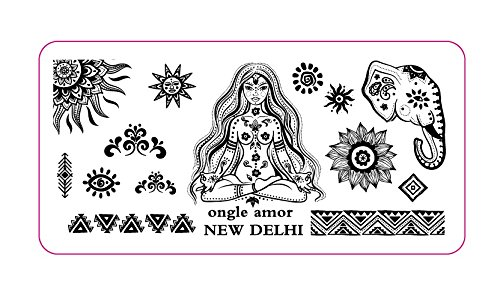 Plaque stamping NEW DELHI | ONGLE AMOR