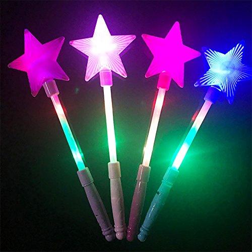 Vi.yo LED Stern Prinzessin Wand leuchten magische Stange Halloween blinkendes Kostüm (Prinzessin Leuchten Zauberstab)