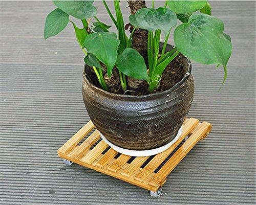 Base de pot de fleur - Plateau de poulie de plateau mobile de roue - Torus - support de fleur mobile en bois ( Taille : 25*25cm )