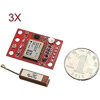 MYAMIA 3Pcs Gyneo6Mv2 GPS Módulo Neo-6M Gy-Neo6Mv2 Junta con Antena para Arduino