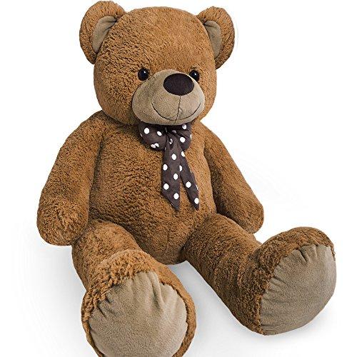 XL Kuschel-Teddybär groß in Braun - Kuscheltier Stofftier Plüschbär Teddy
