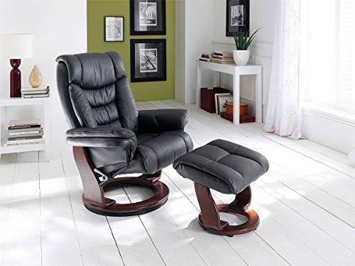 Relaxsessel mit Hocker Fernsehsessel Lesesessel Sessel Leder