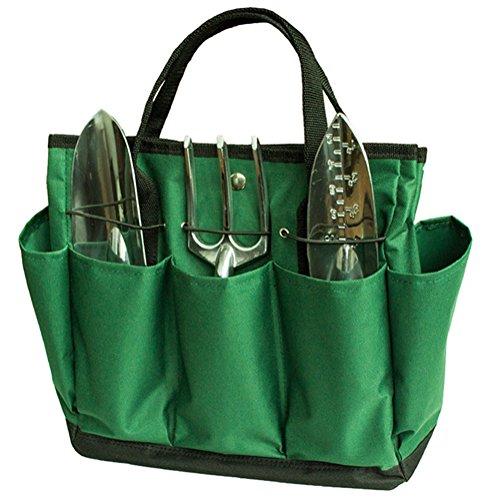 Outflower 600D Multifunktion Oxford Tuch Tasche Werkzeug-Handtasche Garten Werkzeugtasche Garten Werkzeug Tasche Gartengerätegürtel aus Wasserdichtem Oxford Tuch Grün