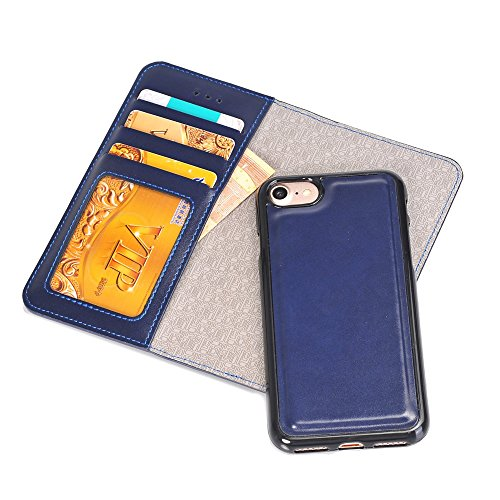 iPhone Case Cover IPhone 6s 7 Plus Fall, 2 in 1 PU-lederner Fall-Multifunktionsschutz-Fall-Abdeckung mit Mappen-Funktion für Apple iPhone 6s 7 Plus ( Color : Blue , Size : Iphone6s ) Blue