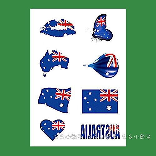 ssische Flaggen Aufkleber tattoos Face - das Face Fans rund um Australien, ein 09 Fußball-Bar (Halloween Amerika Australien)