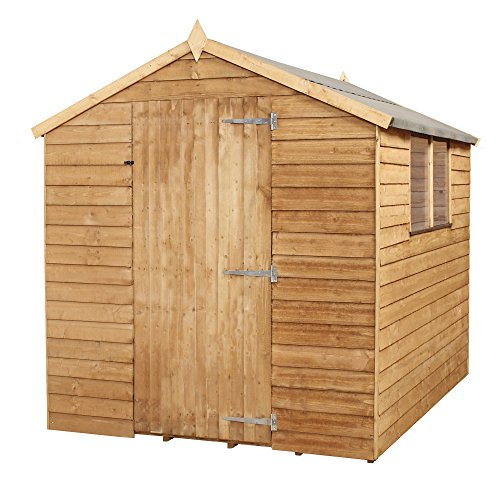 8ft x 6ft Overlap Apex Single Door Wooden Storage Shed