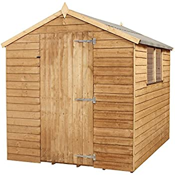 Awesome This Item Waltons 8 X 6 Overlap Apex Wooden Garden Shed With Single Door U0026  Felt