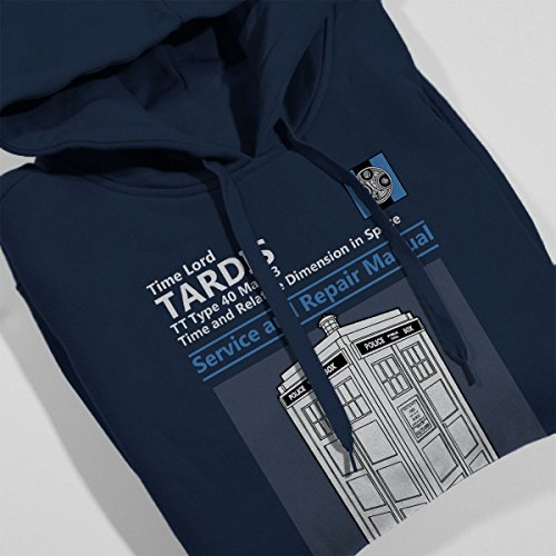 Doctor Who Tardis Service And Repair Manual Women's Hooded Sweatshirt Navy blue