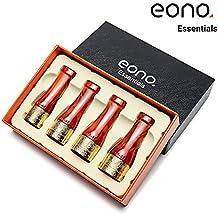 Eono Essentials - Juego de boquillas para puros de cobre y resina en 4 tamaños (oro y caoba)