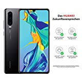 HUAWEI P30 Dual-SIM Smartphone Bundle (6,47 Zoll, 128 GB ROM, 6 GB RAM, Android 9.0) Schwarz + USB-Adapter [Exklusiv bei Amazon] - DE Version