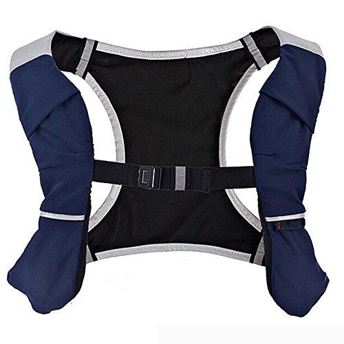 Multifunktionale Outdoor Laufsport Weste Tasche Rucksack Reiten Dunkelblau