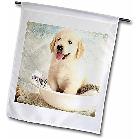 Cute cucciolo di golden retriever Spa Day Art Photo Cortesia badestboss 30,5x 45,7cm decorativo, doppio sided giardino Bandiera