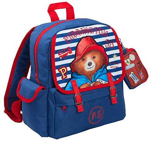 Paddington Bear - Zaino da viaggio per bambini + portafoglio staccabile per ragazzi e ragazze, Blue (Blu) - LBAMZMPN1172