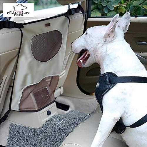 WLDOCA Breathable Car Pet Barrier Safety Net For Dog, Vehicle Universal  Mesh Fence Safety Barrier Durable Travel Blocks,Beige