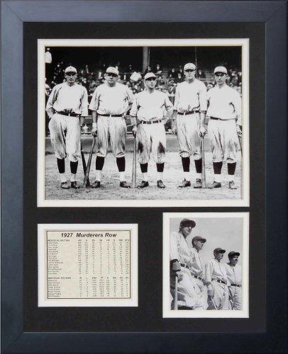 Legenden Sterben Nie 1927New York Yankees Mörder 's Reihe gerahmtes Foto Collage, 11x 35,6cm (Collage Autogramm)