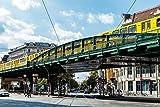Pixblick - U-Bahn an der Schönhauser Allee in Berlin - Hochwertiges Wandbild - Poster 150 x 100 cm