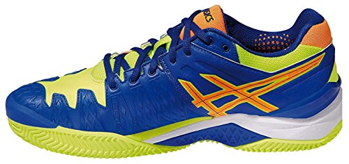 Asics - Gel-Resolution 6 Clay Herren Tennisschuhe Blau/Gelb