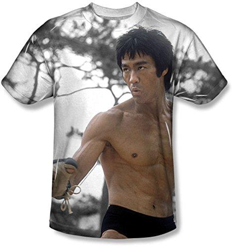 Bruce Lee - - Battle Ready T-shirt pour hommes, Medium, White