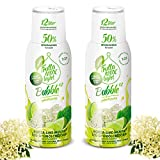 Light Low-Carb Fitness-Sirup Holunderblüte-Limette-Minze Geschmack von Frutta Max light