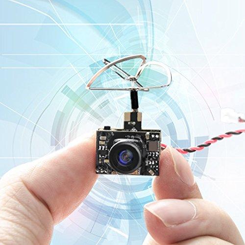 Indoor-antenne Fliege (GOQOTOMO GT01 600TVL Micro AIO Kamera und 40CH 25mW FPV Video Sender Combo mit Klee Antenne für FPV Indoor Racing)