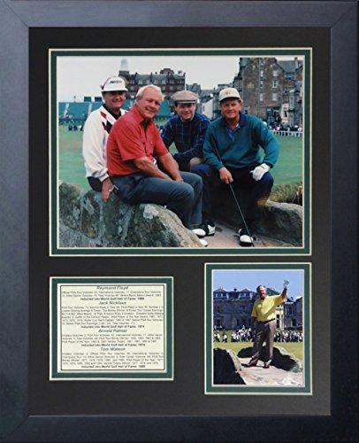 Legenden Sterben Nie Raymond Floyd, Jack Nicklaus, Arnold Palmer und Tom Watson gerahmtes Foto Collage, 11x 35,6cm
