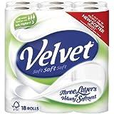 Triple en velours blanc papier toilette 2x 18par lot