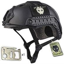 Casco militar para airsoft o paintball, diseño de estilo SWAT, color negro