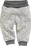 Schnizler Unisex Baby Jogginghose Pump-Hose Strickfleece mit Strickbund (Grau 33), 86