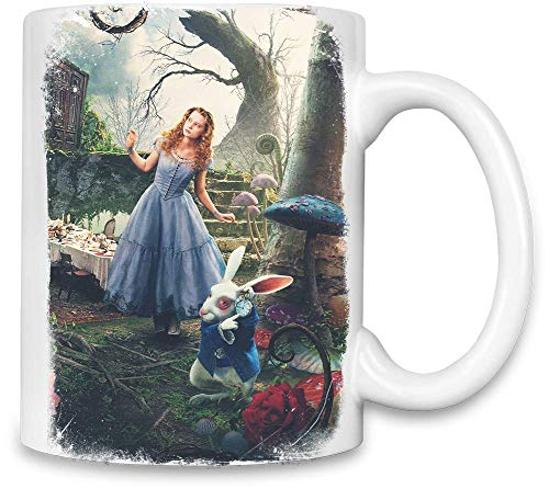 Alice im Wunderland 2 Alice mit Kaninchen - Alice In Wonderland 2 Alice With Rabbit Unique Coffee Mug | 11Oz| High Quality Ceramic Cup| The Best Way To Surprise Everyone On Your Special Day| Custom (Alice Wonderland Rabbit)