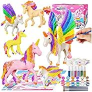 Umatrix Unicorn Paint Your Own Unicorn Painting Kit, Unicorns Paint Craft for Kids, Unicorn Party Favor Art Su