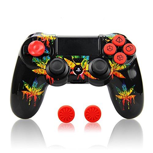 TPFOON Schutzhülle Case für Sony PS4 Controller, Sleeve Bundle für Sony PS4, PS4 Slim / Pro Wireless Controller (Monster Playstation Controller)