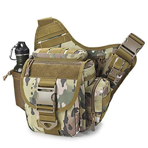 Ericcay Outdoor Satteltasche SLR Kameratasche Multifunktionale Single Shoulder Wasserdicht Rucksack Stilvolle Unikat Camouflage (Color : B, Size : One Size)