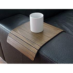 Holz sofa armlehnentisch in vielen farben wie dunkle nussbaum Armlehnentablett Moderner tisch für couch Klein schleichendes sofatisch Armlehne flexibel tablett Falten couchtisch Kleine tische