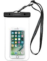 Housse Étanche, Spigen® Velo [Certifiée IPX8] Coque Etanche, Pochette étanche, Etui Etanche pour Apple iPhone 7/7 Plus/6/6S/6 Plus/SE/5S/5/5C, Galaxy J3/J5/A3/A5/S8/S8 PlusS7/S7 Edge/S6/S6 Edge/Note 4, Huawei P8/P8 Lite/P9/P9 Lite Smartphones Crystal Clear-A600