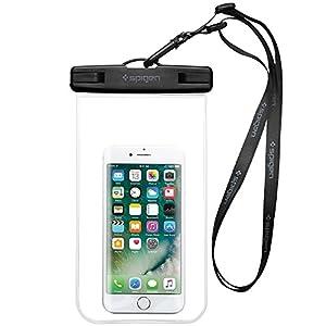 Housse Étanche, Spigen® Velo [Certifiée IPX8] Coque Etanche, Pochette étanche, Etui Etanche pour Apple iPhone 7/7 Plus/6/6S/6 Plus/SE/5S/5/5C, Galaxy J3/J5/A3/A5/S8/S8 PlusS7/S7 Edge/S6/S6 Edge/Note 4, Huawei P8/P8 Lite/P9/P9 Lite Smartphones jusqu'à 6 pouces Crystal Clear-A600