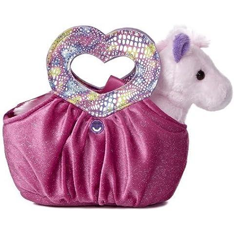 Aurora World Fancy Pals Plush Toy Pet Carrier, Hot Pink Heartfelt by AURORA