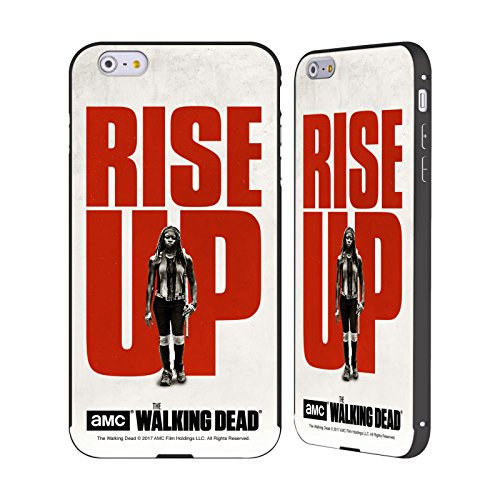 Ufficiale AMC The Walking Dead Maggie Alzarsi Nero Cover Contorno con Bumper in Alluminio per Apple iPhone 5 / 5s / SE Michonne