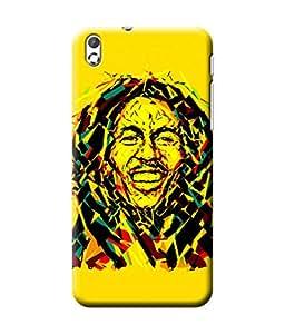 Be Awara Bob Marley Polygonal Art Printed Back Case Cover for HTC Desire 816G