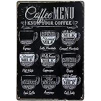 Yililay Vintage Retro Cartel de Chapa de Metal Placa de la Pared del Cartel Café Bar Pub decoración del hogar artesanales de Metal 8x12inches, DIY y Herramientas