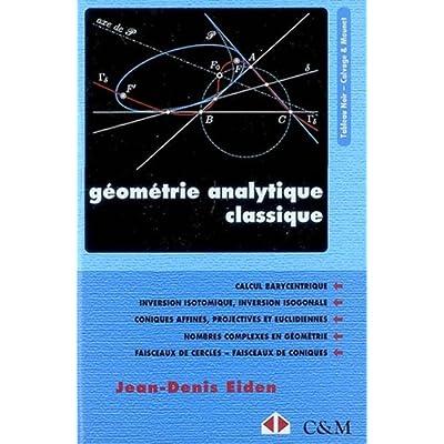 Géometrie analytique classique