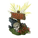 Blue Ribbon Area 51 Schild mit Totenkopf Exotic Umgebungen Aquarium Ornament