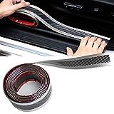 Protezione per portiera auto, in fibra di carbonio, 5 metri, protezione per paraurti, placca adesiva, antigraffio, con forte adesivo e raschietto
